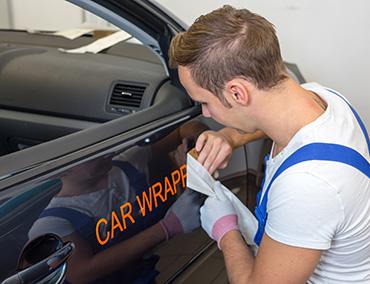 Pose de Stickers sur véhicule